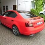 3D autofolie červená matná + okenní folie