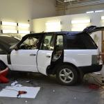 Aplikace 3D autofolie bílá – briliant