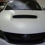 3D autofolie-bílá matná