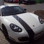 3D autofolie-rychlé pruhy Porsche design