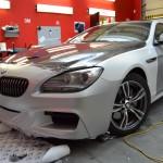 3D folie antracit a stříbrná metalíza na celopolep BMW 6