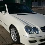 Bílá perleť na Mercedes SLK včetně vnitřních ploch dveří