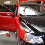 Celopolep červenou 3D autofolií