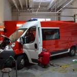 Celopolep červenou 3D autofolií pro hasiče