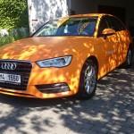 Matná oranžová folie 3M celopolep + řezaná reklama
