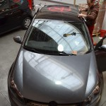 Celopolep anthracitovou metalickou folií + grafická příprava + lamino na střechu