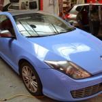 Celopolep modrá folie a metalíza na střechu Renault Laguna Coupe