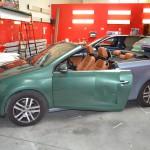 Celopolep zelenou metalickou 3D autofolií na Volkswagen Golf Cabriolet