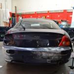 Aplikace černé matné autofólie včetně opravy podkladu před lepením