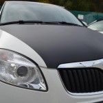 Karbon černý strukturovaný na přední kapotu - Škoda Fabie