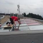 Aplikace externí sluneční folie Prestige 40 na budovu FAČR