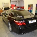 Celopolep - aplikace černé lesklé 3D autofolie na Lexus LS