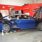 3D metalická modrá perleť na Bentley