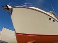 Demontáž stávající folie z boků a nástavby + aplikace ochranné transparentní folie s perletí na námořní loď Nordhafen 68 o délce 21 m přímo na ostrově Murter v Chorvatsku