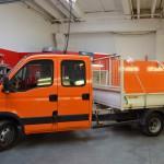 Oranžová 3D autofólie na vůz městských služeb