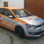 Reklamní polep vozů pro autoškolu