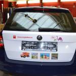 Reklamní polep na dveře Škoda Fabia