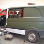 Zelená matná 3D autofolie na vůz Mercedes Vito
