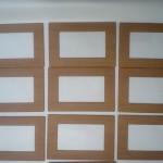 Rámečky k LCD s aplikovanou 3D folií s imitací dřeva
